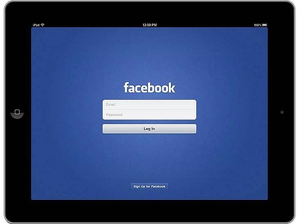 Blue Takes Facebook's New iPad App for a Spin