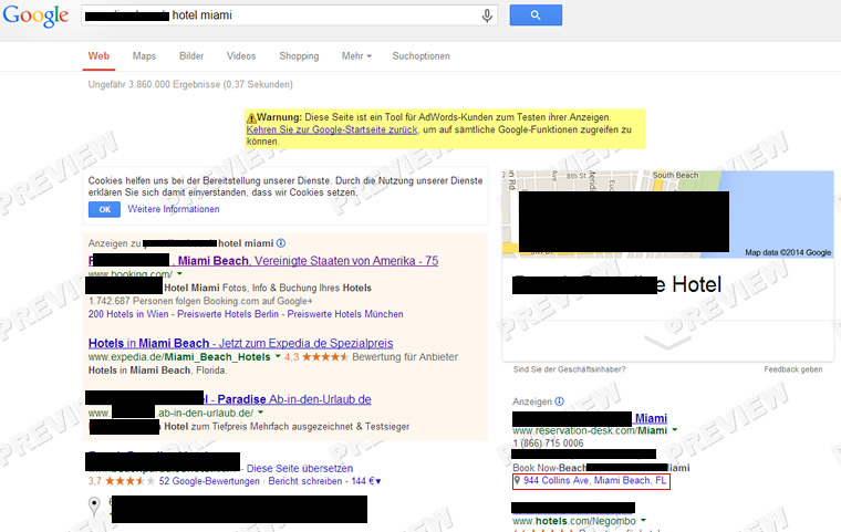 The Great Google AdWords Hotel Blunder